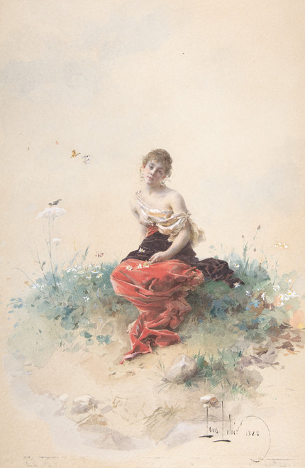 Female Figure by Alexandre-Louis Leloir.
