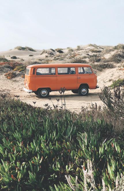 VW Bus in the Desert.