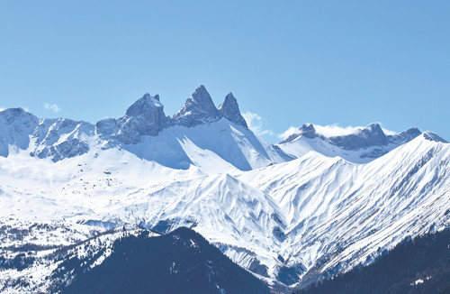 Snowy Mountains Poster.