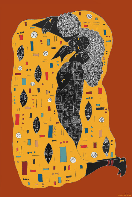 Brown Klimt by Aislinn.art Poster.