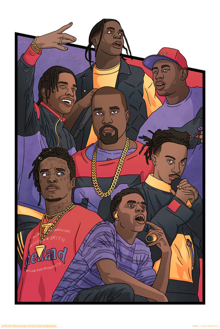 Rap Kings by Angvs Poster.