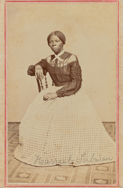 Harriet Tubman portrait in sepia.