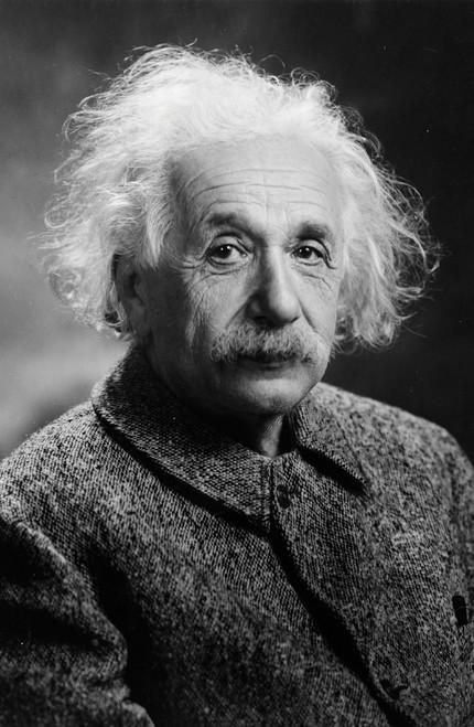 Portrait of Albert Einstein 1947 in black and white.