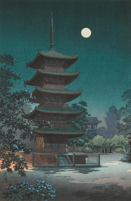 Kinryuzan Temple in Asakusa woodblock print by Tsuchiya Kōitsu.