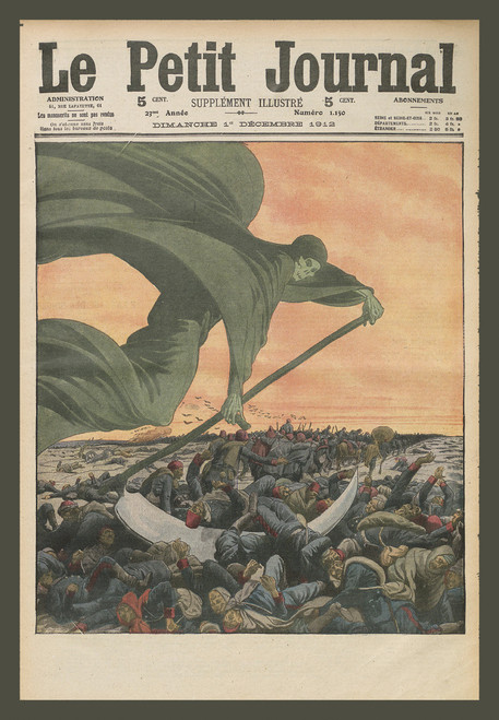 Le Petit Journal cover with grim reaper and many bodies.