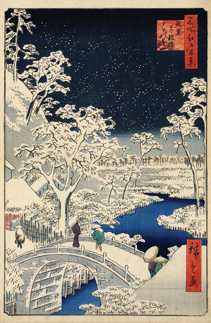 Hiroshige Drum Bridge scene in Tokyo.