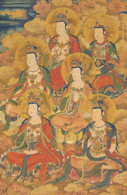 The Bodhisattvas 1454 Ming Dynasty.