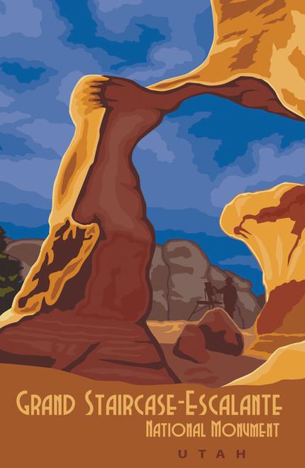 Retro travel poster for Utah's Grand Staircase.