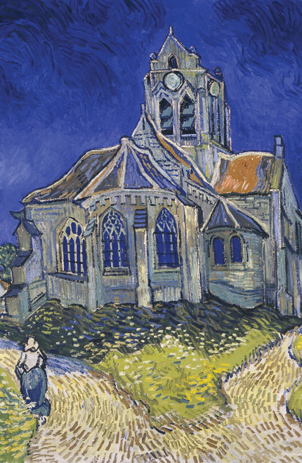 The Church in Auvers-sur-Oise, View from the Chevet by Van Gogh.