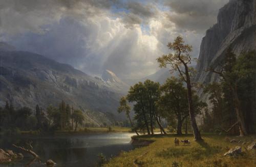 Albert Beirstadt's painting of Yosemite Valley 1866.