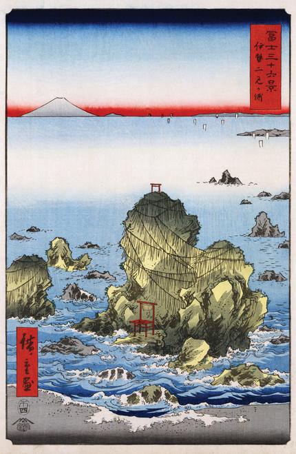 Hiroshige - Futamigaura in Ise Province 1858.