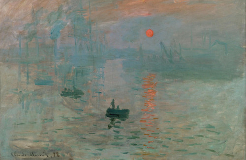 Impression Sunrise by Claude Monet.
