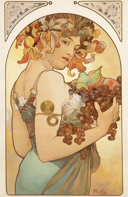 Fruits by Alphonse Mucha 1897.