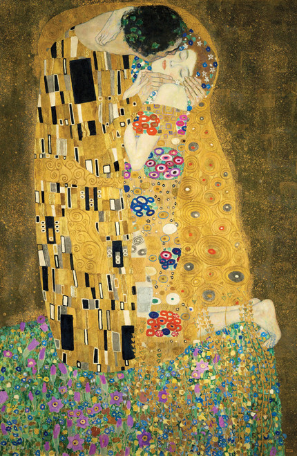 Gustav Klimt's The Kiss 1908.
