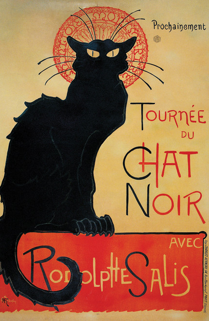 Tournée du Chat Noir by Theophile Alexandre Steinlen - 1896.