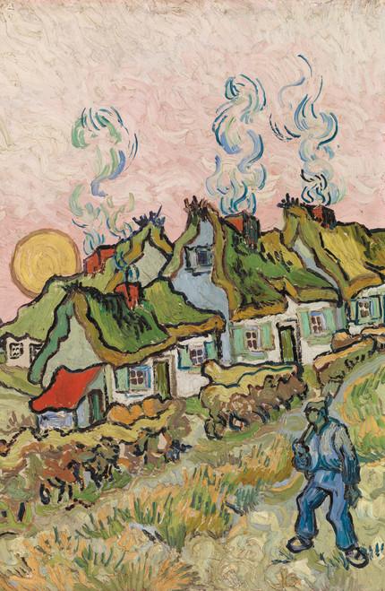 Houses and Figure Van Gogh 1890.