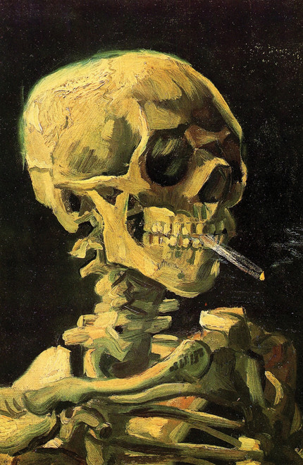 Head of a Skeleton with a Burning Cigarette by Van Gogh.