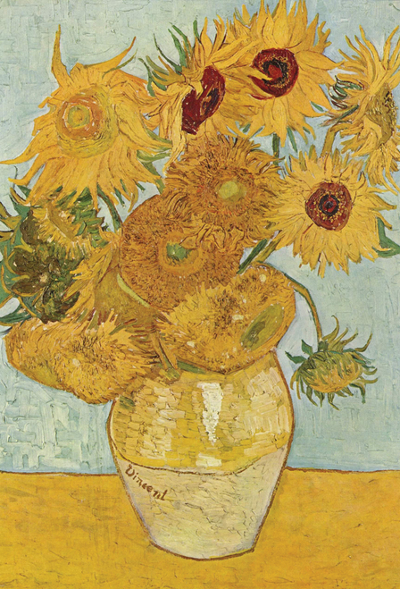 Sunflowers Van Gogh Postcard.