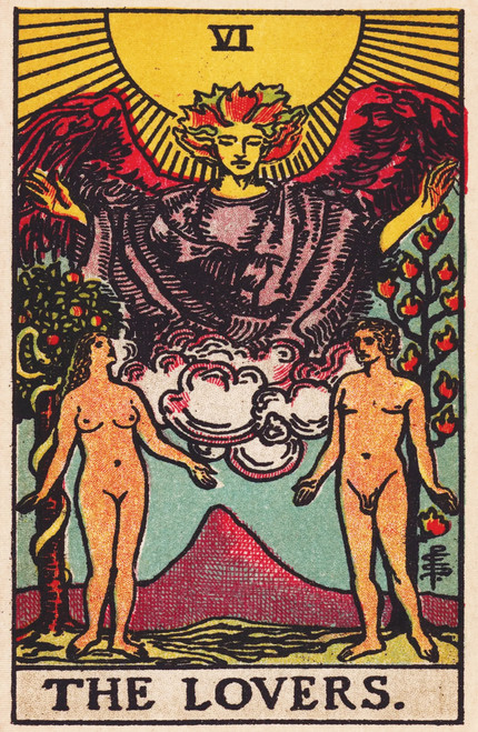 Rider-Waite Lovers Tarot Card