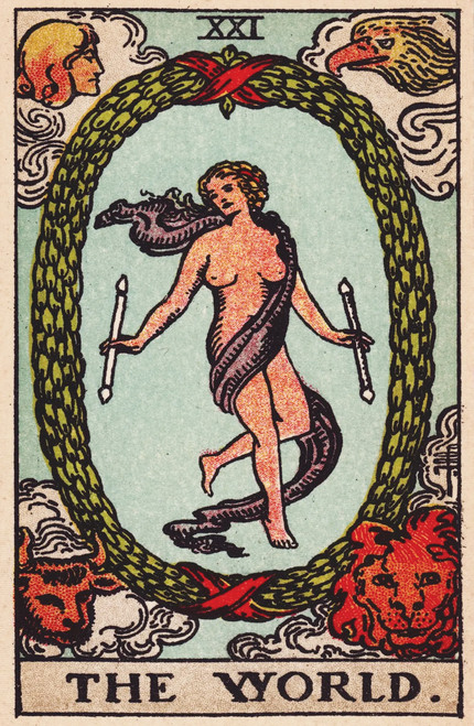 Rider-Waite The World Tarot card.