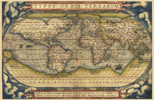 Theatrum Orbis Terrarum by Abraham Ortelius from 1570.