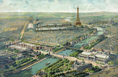 Paris Exposition of 1900 aerial view.