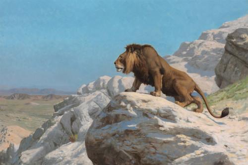 Lion on Watch by Jean Léon Gérôme.