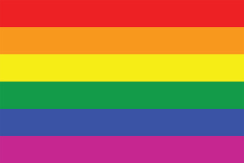 Rainbow pride flag postcard.