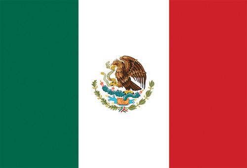 Mexican Flag Postcard.