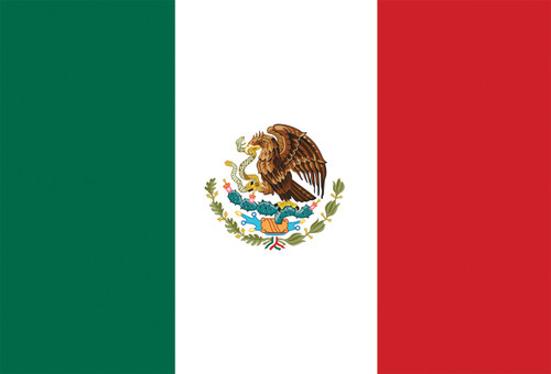 Mexican Flag Postcard.