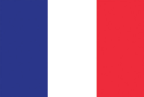 French flag postcard.