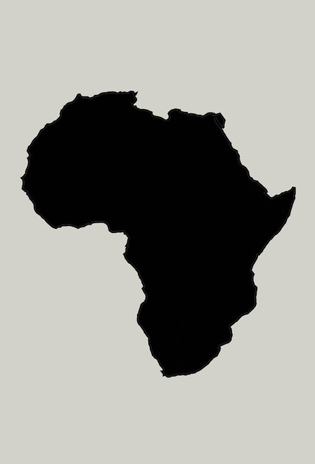 Continent of Africa postcard.