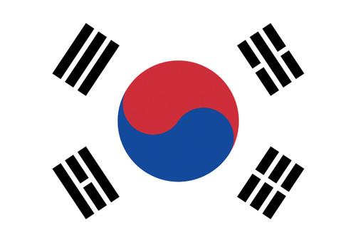 Flag of South Korea Postcard.