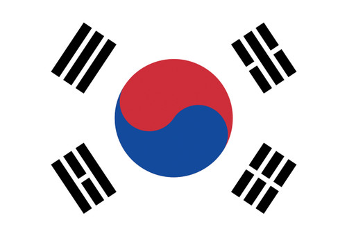 Flag of South Korea Postcard.