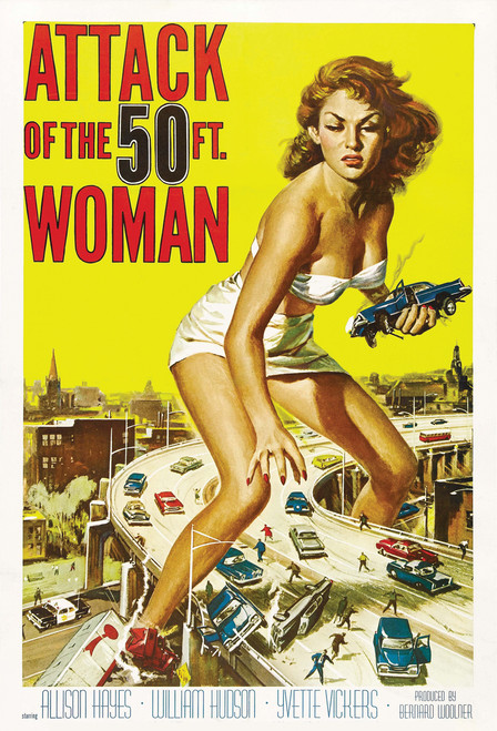 Attack of the 50ft Woman Postcard.