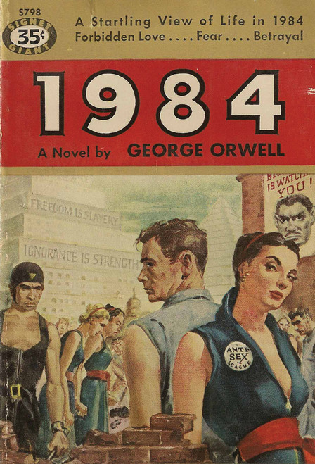 1984 George Orwell Postcard.