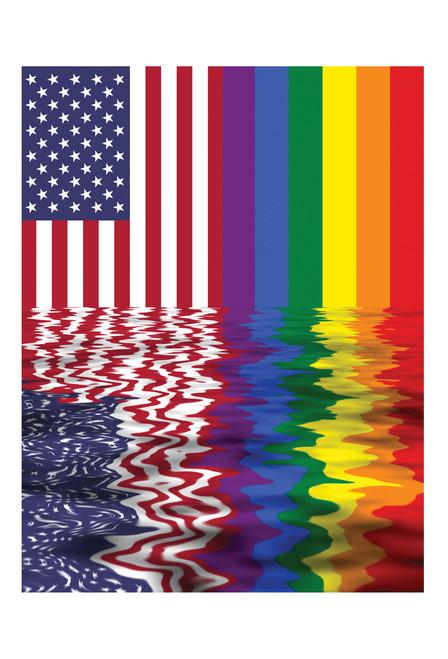 American Rainbow Flag Postcard.