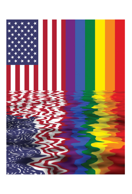 American Rainbow Flag Postcard.