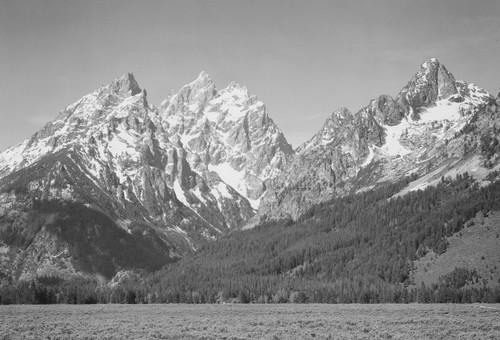 Ansel Adams Mountains Postcard.