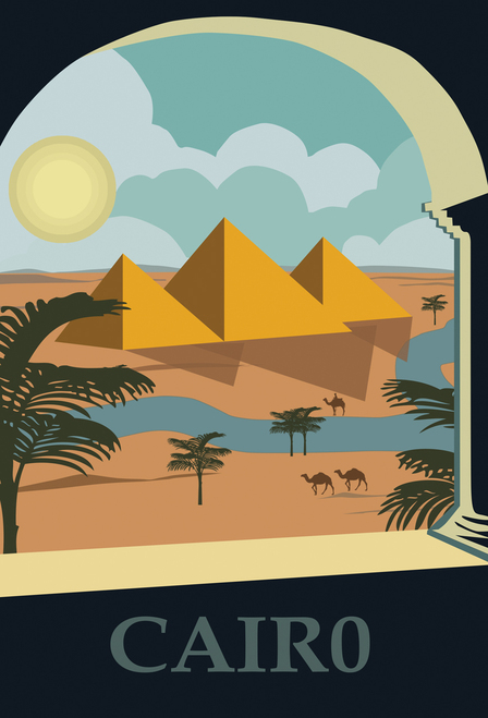 Cairo Egypt Postcard.