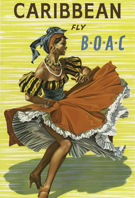 Caribbean Dancer Postcard.