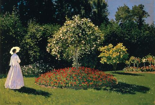 Monet Garden Postcard.