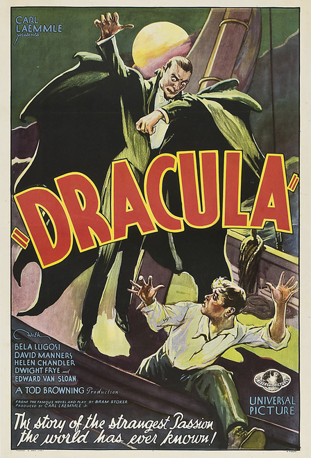 Dracula 1931 Postcard.
