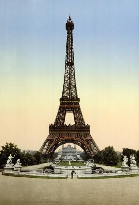 Eiffel Tower 1900 Postcard.