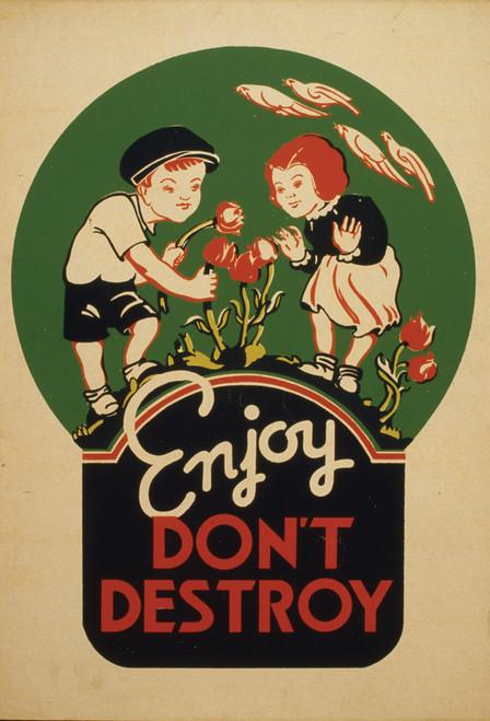Enjoy, Don't Destroy Postcard.