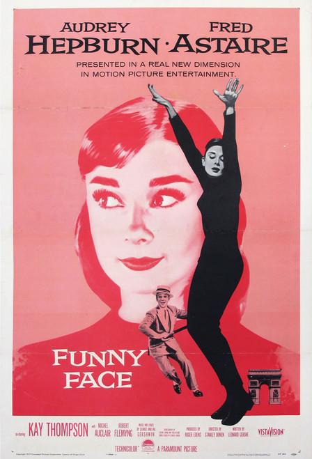 Audrey Hepburn Funny Face Postcard.