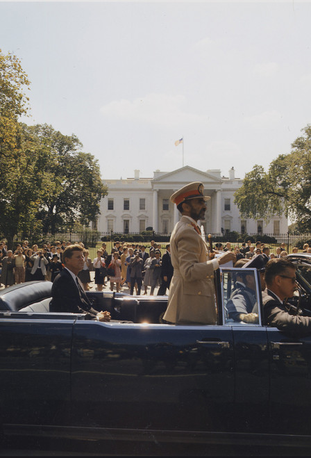 JFK with Haile Selassie Postcard.