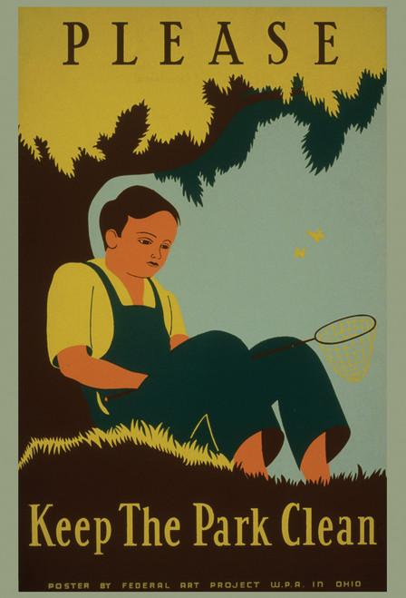 Keep the Park Clean Postcard.