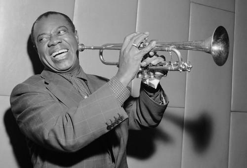 Louis Armstrong 1955 Postcard.