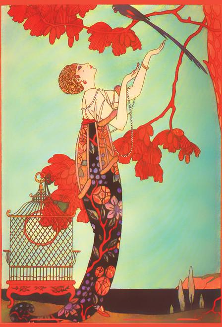 Mucha Exotic Woman Postcard.